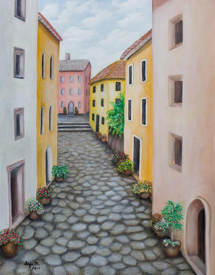 Cobblestones of Italy