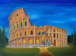 Roman Colosseum oil painting