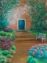 """Entrance to Tuscany Cottage"" 24 x 18"" Oil on Canvas"