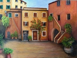 Peaceful Corner of Rome oil painting