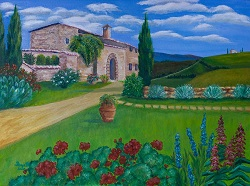 Villa in Tuscany oil painting