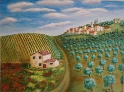 Tuscan Landscape Giclee Thumbnail