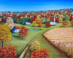 Country Autumn oil on canvas