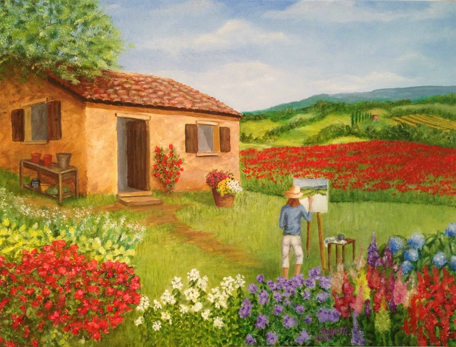 Artist in Tuscany